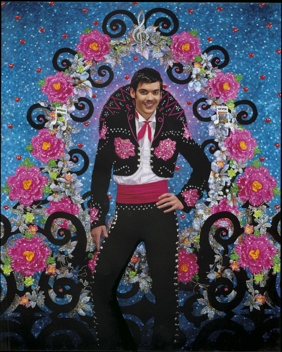 "The Pierre et Gilles poster for the ""Chanteur de Mexico"" production at the Chatelet theatre in Paris."