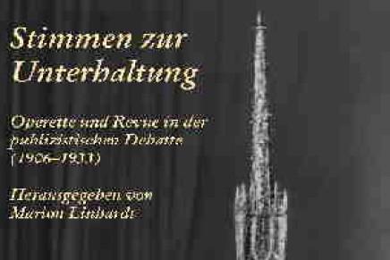 """Marion Linhardt: """"Stimmen zur Unterhaltung"""" and """"Residenzstadt und Metropole"""""""