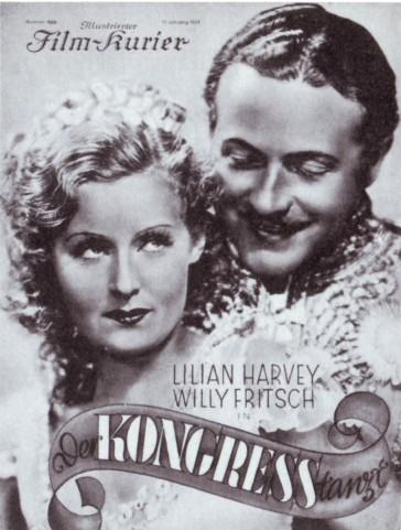 """Poster for the film operetta """"Der Kongress tanzt""""."""