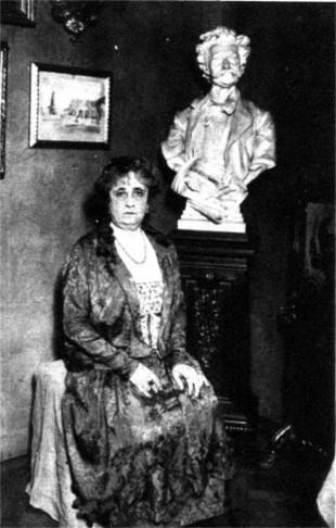 Adele Strauss, the widow of composer Johann Strauss.
