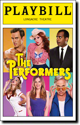 "The Playbill cover for ""The Performers,"" a play which came to Broadway in 2012."