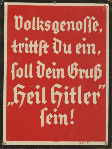 """""""Der deutsche Gruß""""."""