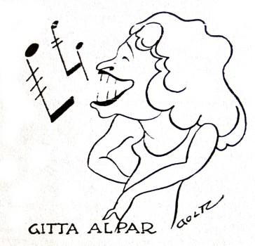 A caricature of Gitta Alpar, as seen in a Berlin newspaper in the late 1920s.