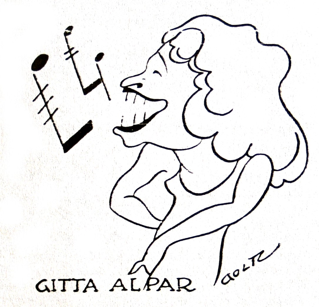 A caricature of Gitta Alpar, as seen in a Berlin newspaper in the late 1920s.