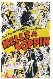 "Poster for the movie version of ""Hellzapoppin""."