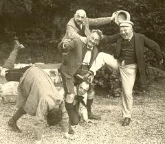 Leo Fall, horsing around with his librettists.