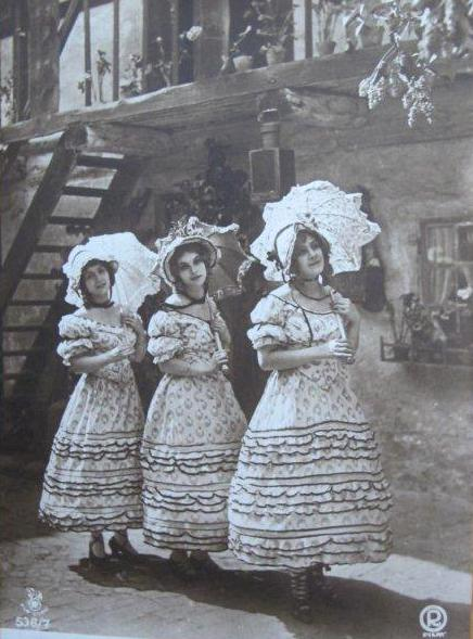 "A scene from the early ""Dreimäderlhaus"" movie."
