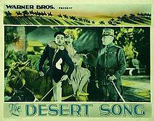 "Poster for the 1929 film version of ""The Desert Song."""