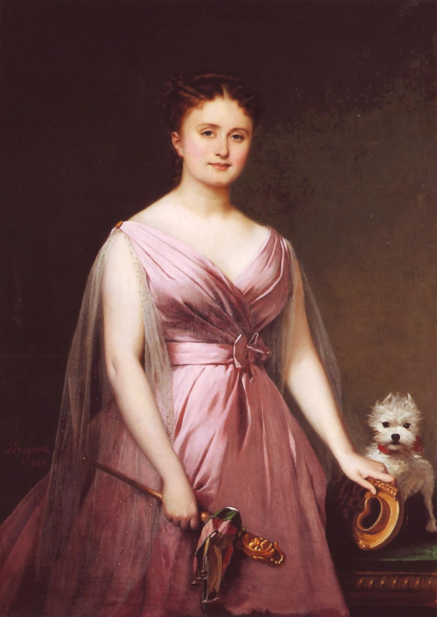 """Hortense Schneider en """"folie"""", portrait by Alexis Pérignon."""