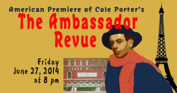 "Poster for the New York performance of ""The Ambassador Revue""."