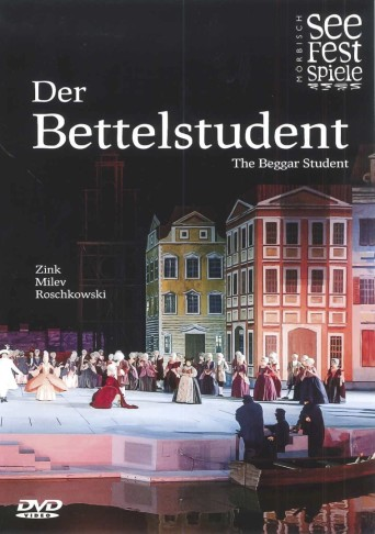 "The DVD cover of the new ""Bettelstudent"" from Mörbisch, Austria."