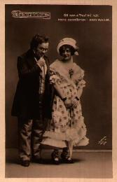 Fritz Schrödter as Schubert and Anny Rainer as Hannerl, 1916.