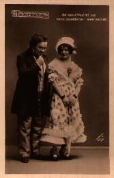 Fritz Schrödter as Schubert and Anny Rainer as Hannerl, 1916.