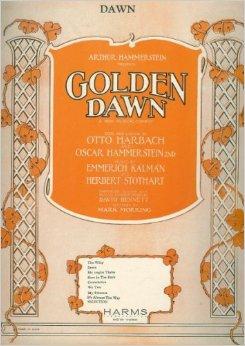 """Notendeckblatt für den Titelsong """"Dawn"""". Eine Melodie von Robert Stolz."""