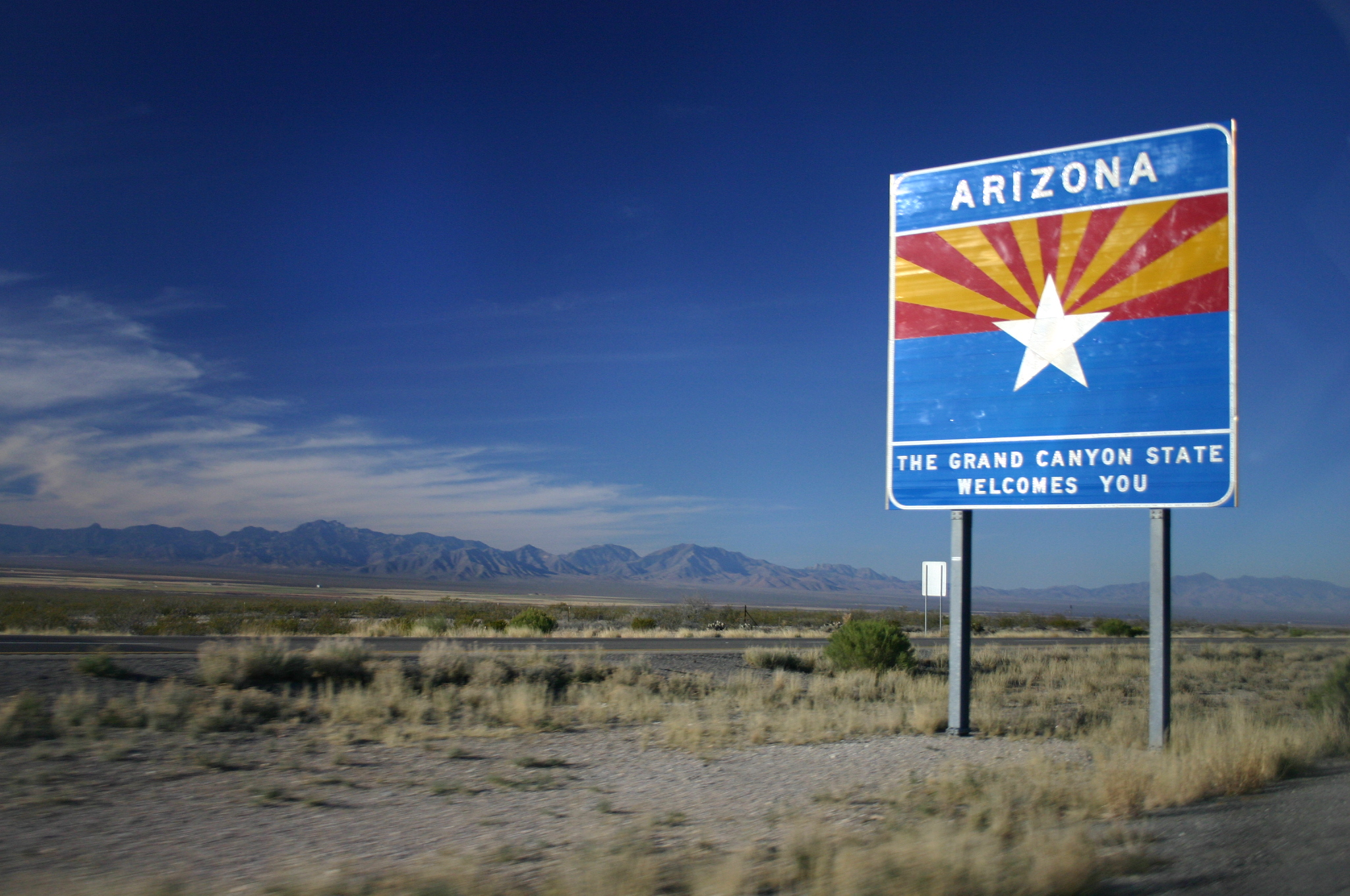 Entering the State of Arizona in Interstate 10 Westbound.