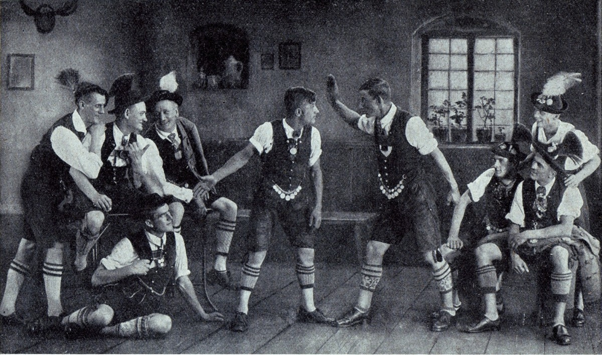 "The ""Tiroler Gruppe"" as Charell originally used them in ""Für Dich"" 1925."