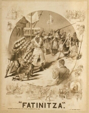 "Sheet music cover for ""Fatinitza""."