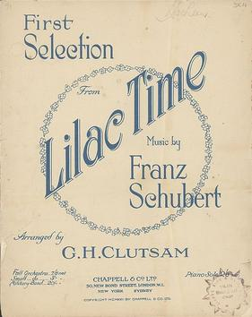 "Piano sheet music of ""Lilac Time"", 1922."