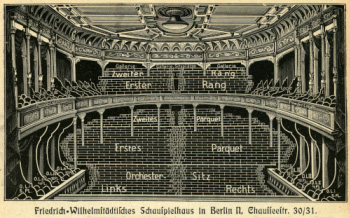 The Friedrich-Wilhelmstädtisches Theater in Berlin.