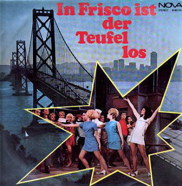 "The LP cover of Schneidereit's greatest stage success, ""In FRisco ist der Teufel los""."