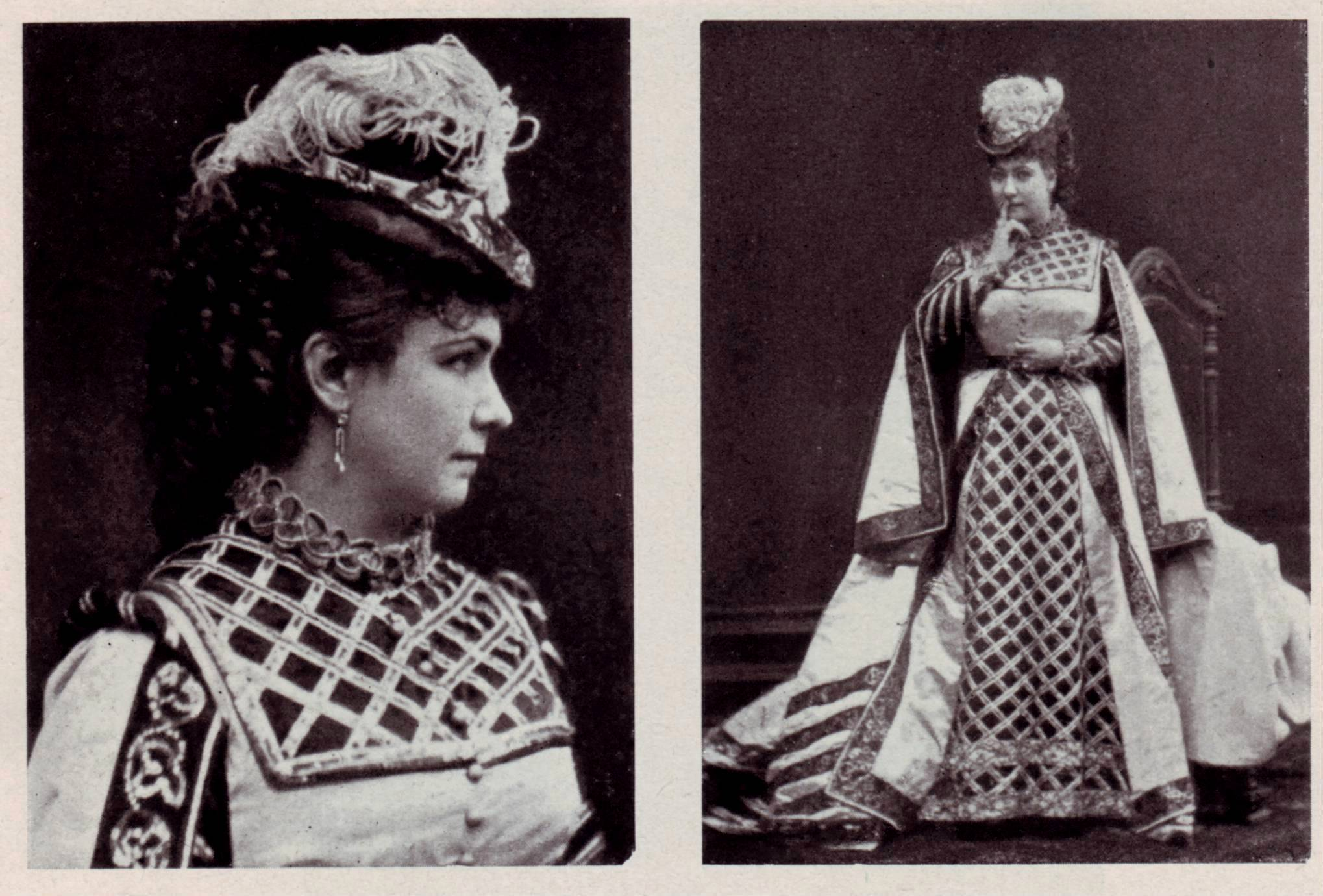 Marie Geistinger as Boulotte. in Vienna.
