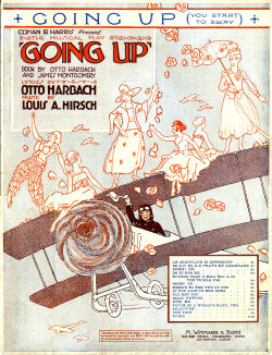 "Sheet music cover for ""Going Up!"""