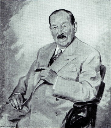 A portrait of Kálmán painted in 1953.