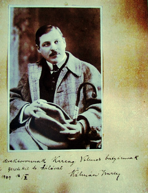 """Emmerich Kalman as a young man in 1909, the year of his """"Herbstmanöver"""" success."""