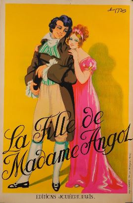 "Latter day poster for "" La Fille de Madame Angot""."