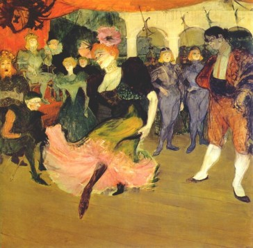 "Henri Toulouse-Lautrec's painting of Marcelle Lender doing the bolero in ""Chilperic"", 1895."
