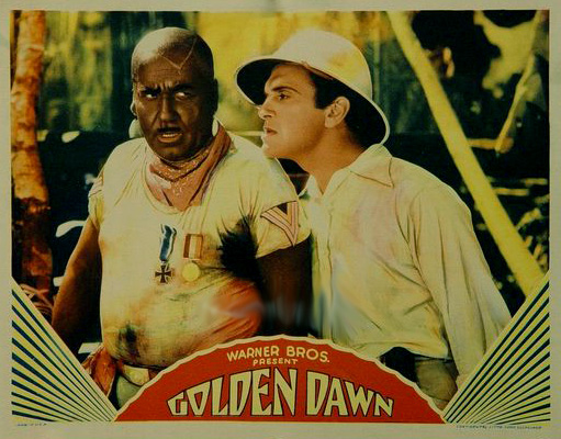 "Lobby Card for the movie version of ""Golden Dawn""."