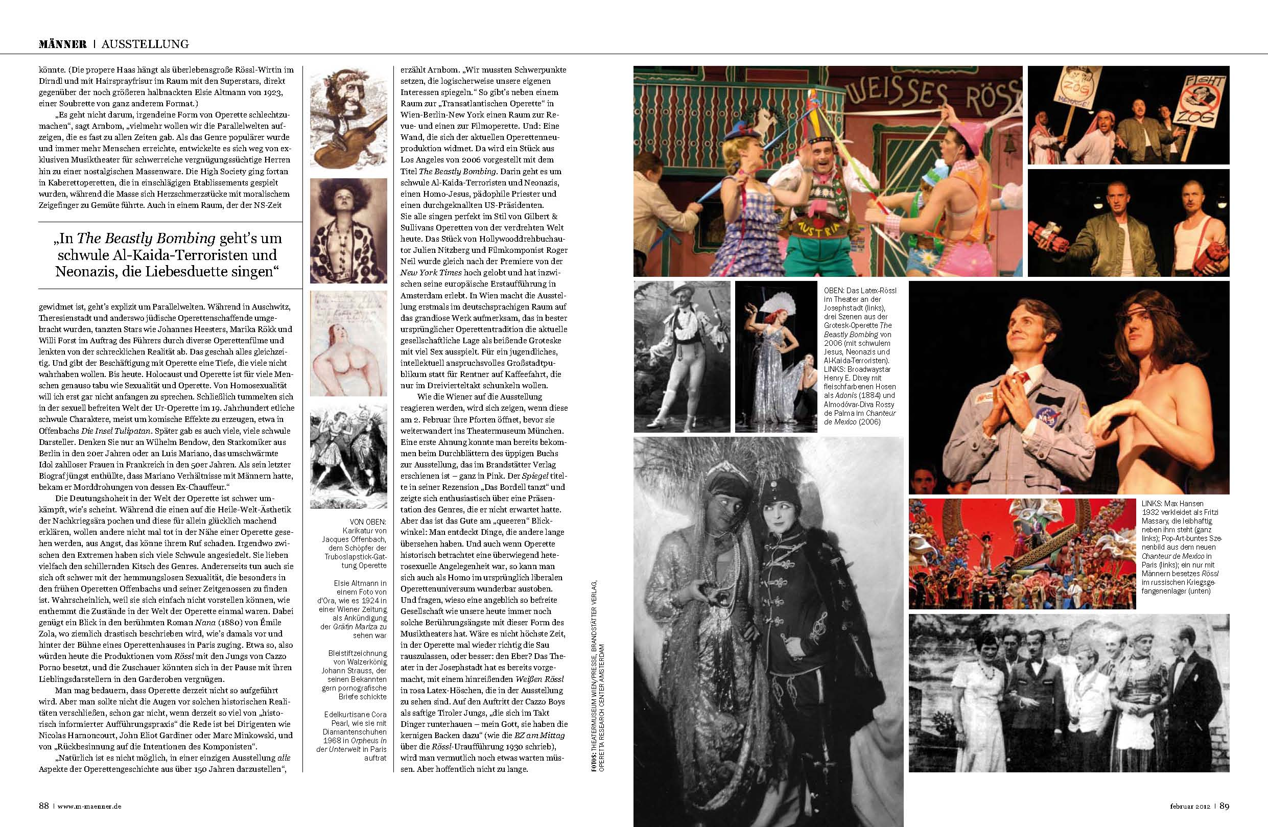 Second double page from the MÄNNER operetta spread.