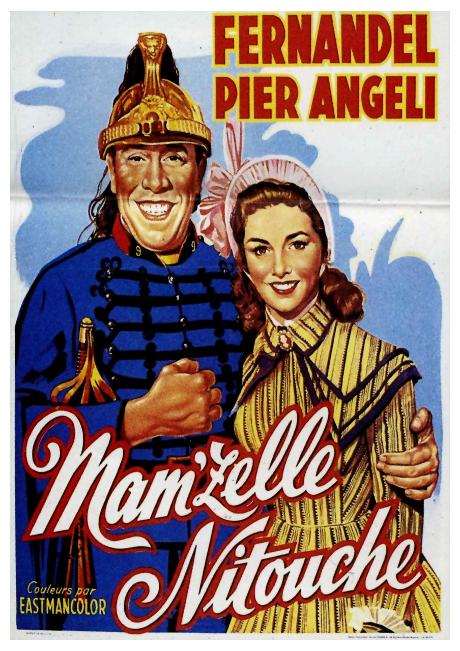 "Poster of a film version of the ever-popular ""Mam'zelle Nitouche""."