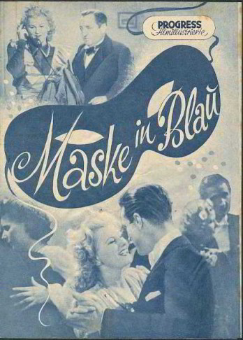 "The first film version of ""Maske in Blau,"" 1941/42."