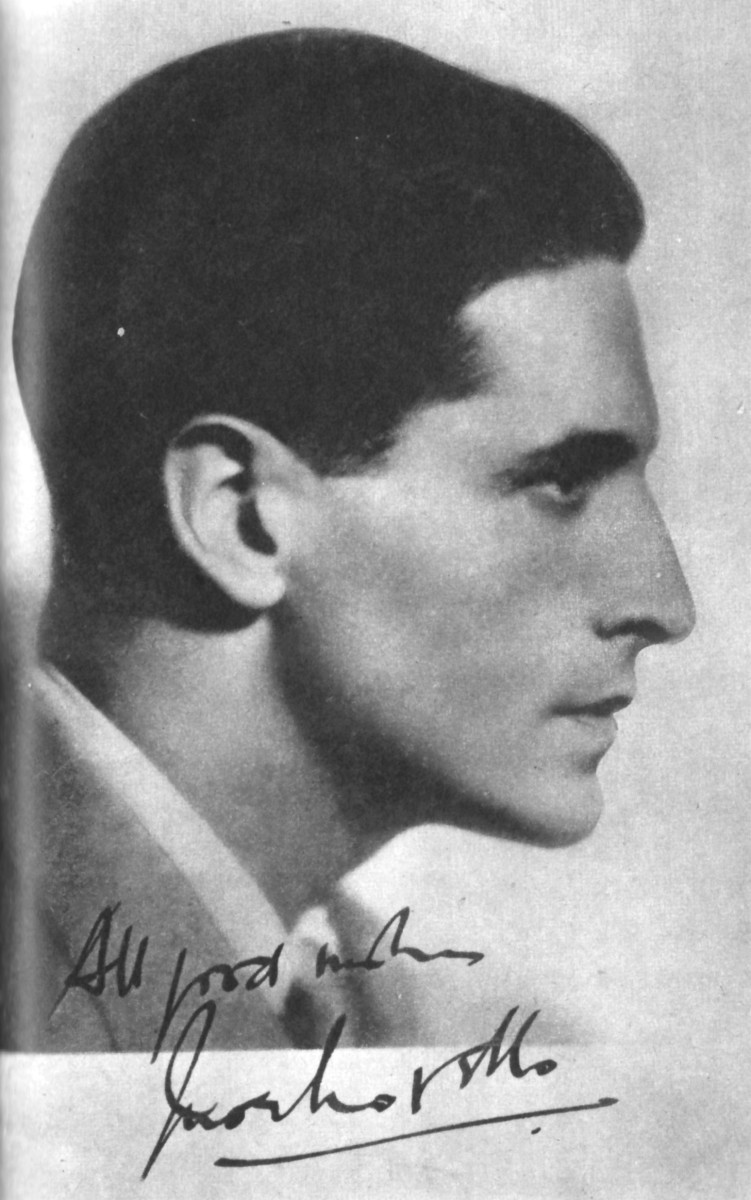 Autograph card, Ivor Novello.