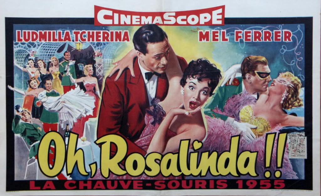 "The poster for the film version ""Oh Rosalinda."""