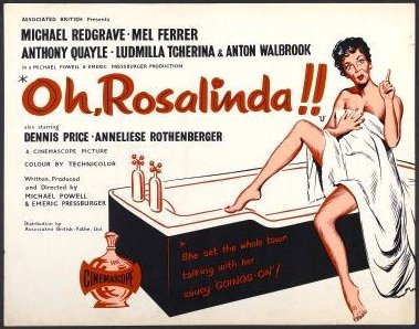 "Poster for the 1955 ""Fledermaus"" adaptation ""Oh Rosalinda!"""