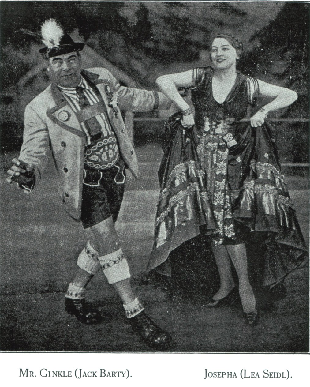 Lea Seidl demonstrating how to properly dress and dance in an Alpine setting.