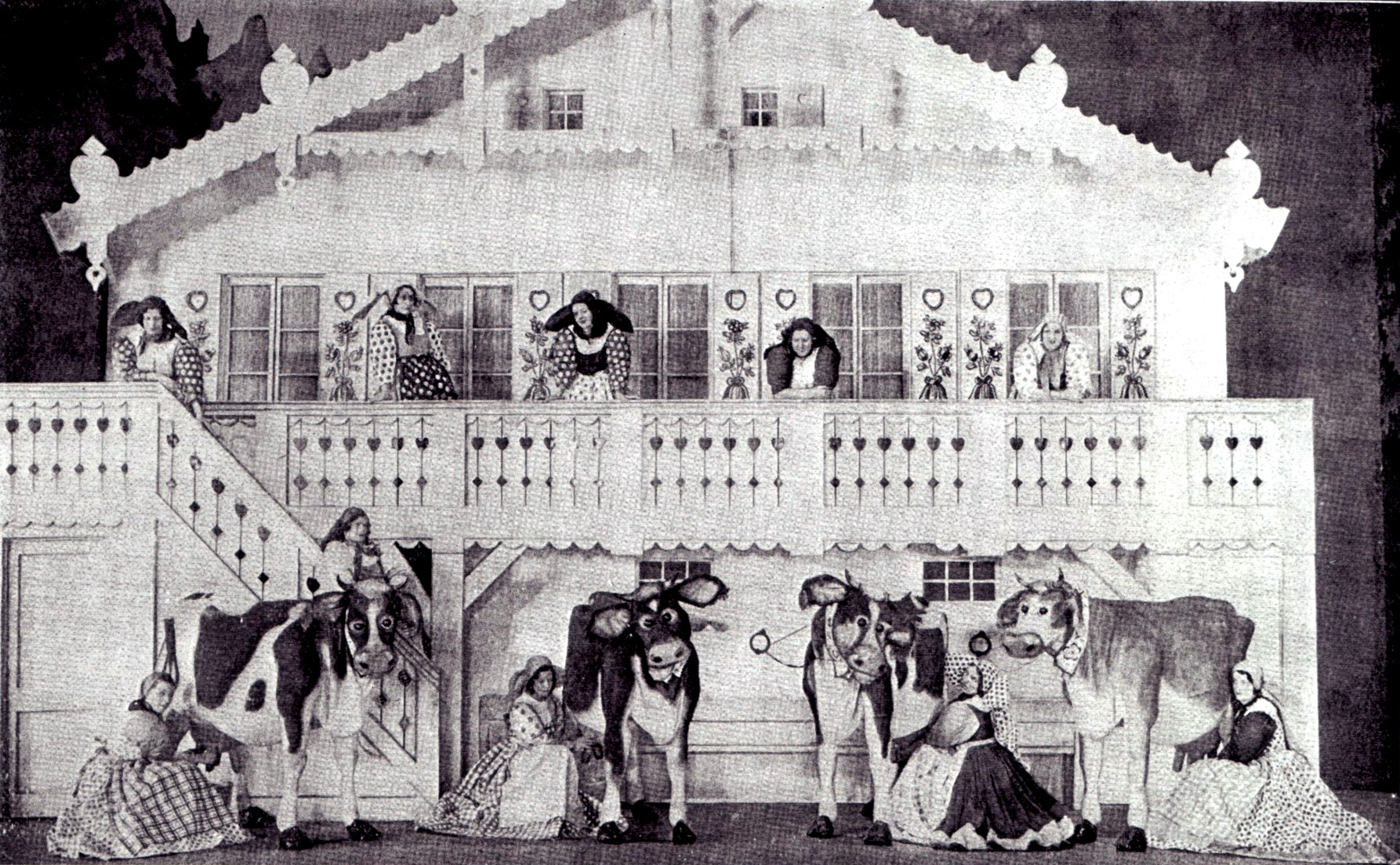 The cow shed scene from the London production.