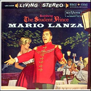 "American tenor Mario Lanza singing the hit songs from ""Student Prince"" made the music famous again in the 1950s."