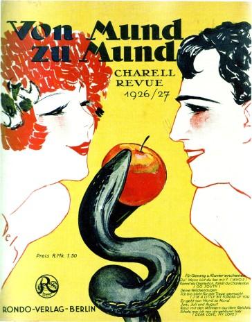 """Poster for Charell's revue """"Von Mund zu Mund""""."""