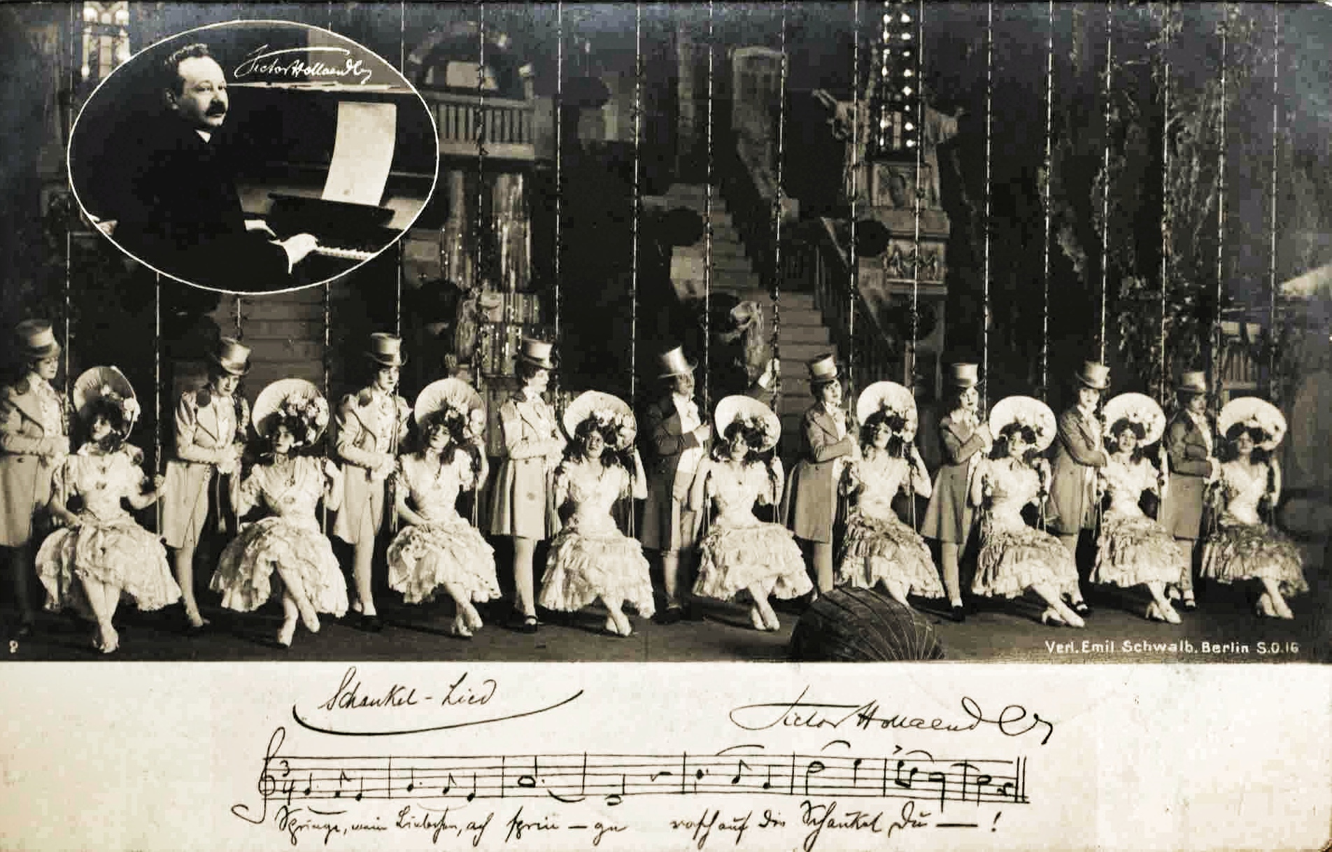 A typical scene from a Hollaender revue in pre-WW1 Berlin.