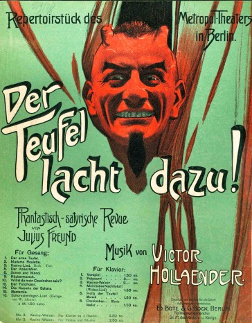 "Sheet music cover for ""Der Teufel lacht dazu""."