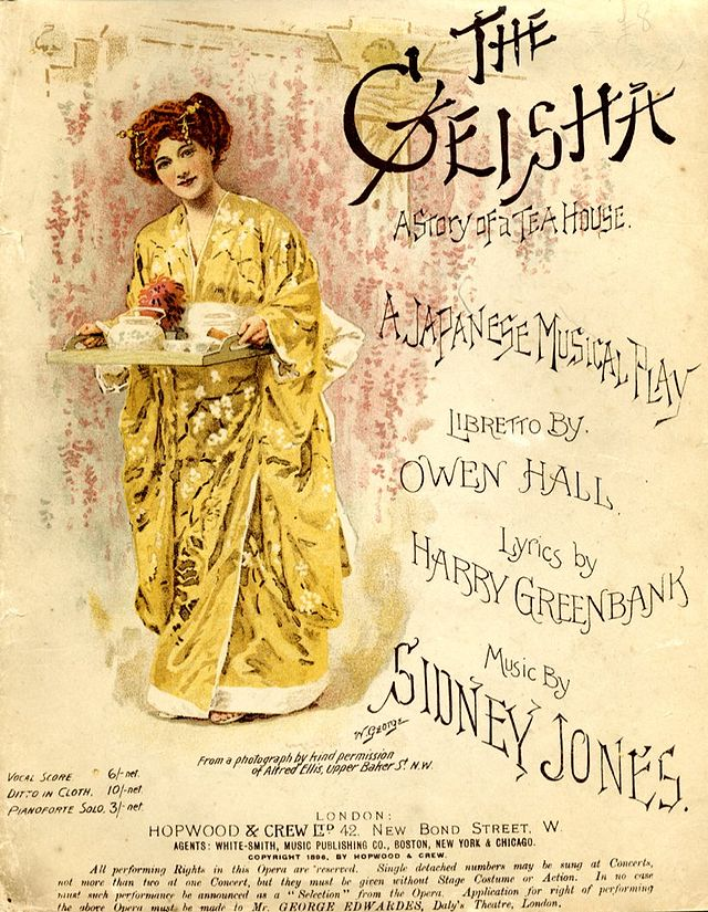 "Cover of the vocal score of ""The Geisha""."