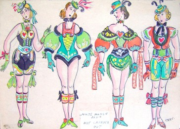Ernst Stern's fantasy costumes for the girl dancers.