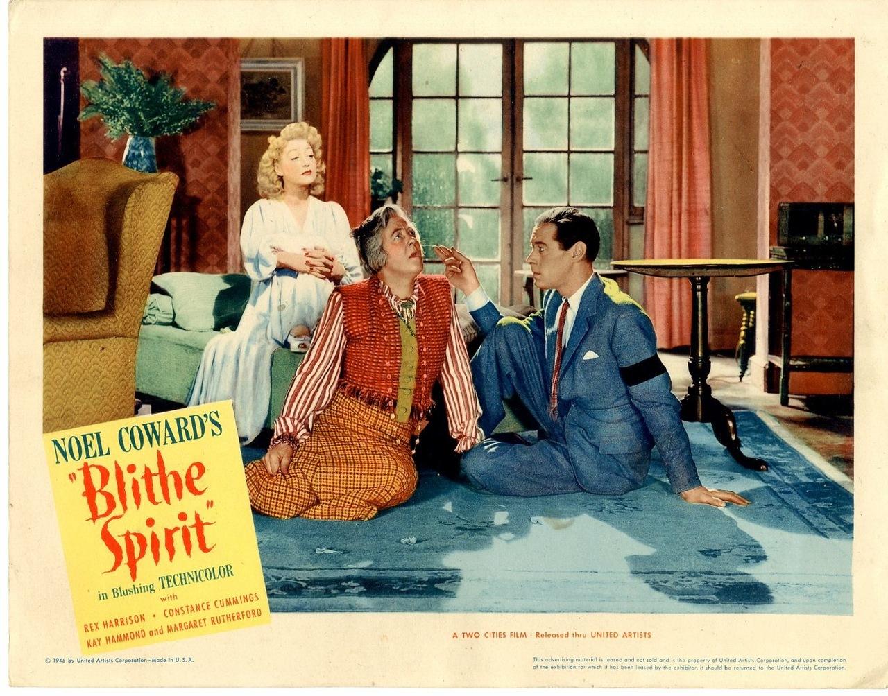 """Poster for the film version of """"Blithe Spirit"""", starring Rex Harrison."""