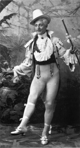 "Henry Dixey in ""Adonis"" on Broadway, 1883."