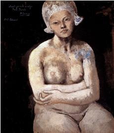 """Picasso's """"Hollandweibchen mit dem Häubchen""""."""