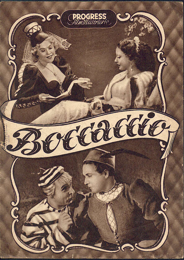"An issue of the ""Filmillustrierte"" with a cover dedicated to the ""Boccaccio"" film starring Willy Fritsch."