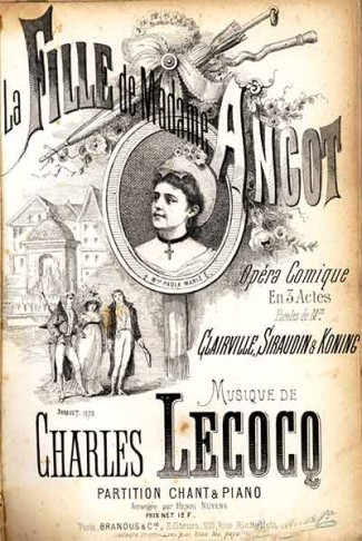 "Sheet music cover for "" La Fille de Madame Angot""."